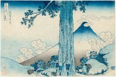 "Mishima Pass in Kai Province, from ""36 Views of Mt. Fuji"", circa. 1831, by Katsushika Hokusai"