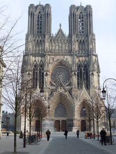 La catedral de Reims, Francia