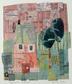 Patchwork Cottage  18 cm x 21 cm - SOLD