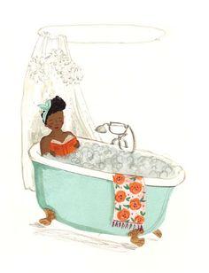 Darme un buen baño de tina