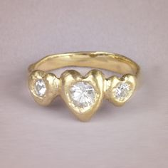 Past, present & future ring #engagementrings #wedding http://www.roughluxejewelry.com/