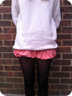 Guilt Free Fashion: DIY Skirt to Shorts