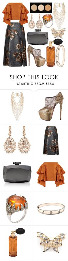 """""""fire opal."""" by v1llainess ❤ liked on Polyvore featuring Rosantica, Christian Louboutin, Suzanne Kalan, Aquilano.Rimondi, Monique Lhuillier, Rosie Assoulin, Cartier, Diptyque and Stephen Webster"""