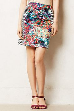 Saw a bunch of skirts like this at Anthropologie this week. Really seems like you could DIY this look with a couple of mismatched Goodwill items.