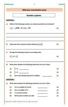 Grade 8 Math: Exam Prep