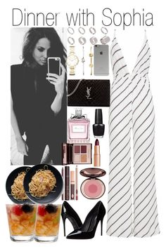 """""""Dinner with Sophia"""" by kiksfashion ❤ liked on Polyvore featuring Dolce&Gabbana, Yves Saint Laurent, ASOS, FOSSIL, Incase, Charlotte Tilbury, Christian Dior and OPI"""