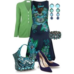 Turquoise Jewelry by yasminasdream on Polyvore featuring Desigual, Allude, Nicholas Kirkwood, Nicole Lee and Lanvin