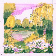 Art Portfolio, Art Sketchbook, Landscape Art, Foto E Video, Art Inspo, Painting & Drawing, Art Reference, Cool Art, Art Projects