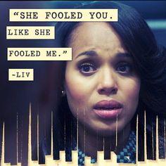 Scandal - Olivia Pope - She fooled you, like she fooled me! Scandal Quotes, Olivia Pope, Many Faces, The Fool, Gladiators, Season 3, Instagram Posts, Suits, Style