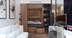 Ötletes megoldások egy átgondolt térszervezéssel tervezett, kis 29m2-es, új lakásban