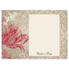 Vintage Love Thank You Card by David's Bridal #davidsbridal #weddinginvitation #vintageweddings