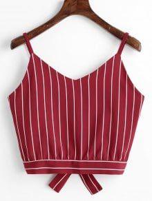 0ca9b459fb Camiseta Regata Barriga-de-Fora com Recorte e Nó em Laço