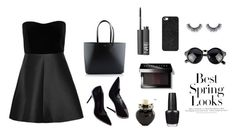 """""""It's all about black fashion."""" by cimyeve on Polyvore featuring RED Valentino, Yves Saint Laurent, BaubleBar, Aéropostale, OPI, NARS Cosmetics, Bobbi Brown Cosmetics and H&M"""