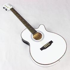 115.46$  Watch now - http://ali6z3.worldwells.pw/go.php?t=32761880280 - Thin Body Electro Acoustic Electric Folk Pop Flattop Guitar Jumbo 40 Inch Guitarra 6 String White Light Built-in Tuner Cutaway