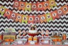Thanksgiving Party Dessert Table #thanksgiving #table