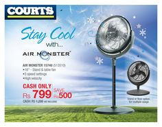 Cool Air with ‪AirMonster‬ !! It cools the entire house quickly & efficiently , making your home a cool and comfortable place in the blink of an eye. Let's Play ‎Cool this ‪Summer!! Offers valid only until 13.09.15.