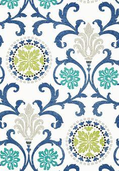 Thibaut Banyan fabric & matching wallpaper, Caravan collection