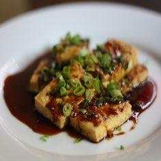 pan fried tofu with dark sweet soy sauce recipe more panfried tofu pan ...