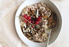 Cardamom, cinnamon, ginger, and black pepper play a dual role in this multigrain porridge, made here with oats, millet, spelt, and flaxseed.