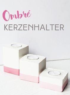 Läute den Frühling mit frischer, selbstgemachter Deko ein! #deko #dekoration #decoration #interior #design #home #kerzen #kerzenhalter #diy #gips #selber #machen #selbstgemacht #ombré #farbverlauf #pink #blush #licht #do #it #yourself #objekte