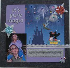 Disney Scrapbook Layouts | Found on twopeasinabucket.com