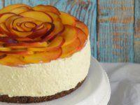 Barackos túrótorta sütés nélkül - rózsatorta Vanilla Cake, Cheesecake, Birthday Cake, Homemade, Recipes, Food, Cakes, Birthday Cakes, Cheese Cakes