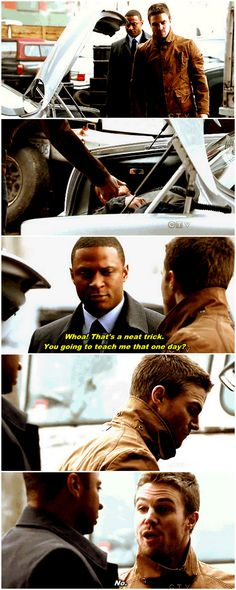 [gifset] Oliver and Diggle Dc Comics Tv Shows, Dc Tv Shows, The Cw Shows, Arrow Tv Series, Cw Series, Supergirl Dc, Supergirl And Flash, Dc Memes, Marvel Memes