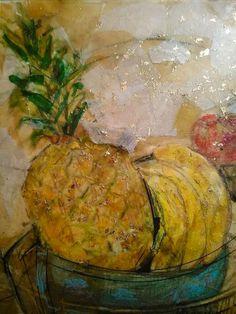 """The Pineapple"" 2015 Pineapple, Drawings, Artist, Painting, Pine Apple, Artists, Painting Art, Sketches, Paintings"