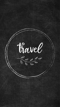 Free Chalkboard Instagram Highlight Covers - Travel #Chalkboard #InstagramHighlights