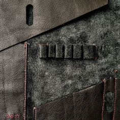 """""""The details are not the details.  They make the design."""" ~ Charles Eames  Black Leather 