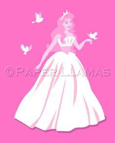 Princes Inspired girls art print custom colors by PaperLlamas
