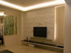 Wall Tv Panel Design Ideas, Pictures, Remodel, and Decor - page 2 Asian Living Rooms, Living Room Tv, Interior Design Living Room, Modern Interior, Living Room Designs, Modern Tv, Modern Living, Room Interior, Lcd Tv Stand