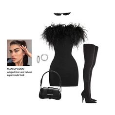 Get the extra glances on NYE with a feather dress 👀 (y'all don't wanna sleep on this gorgeous trend) The dress Kenny is wearing is by LPA… Kpop Fashion Outfits, Stage Outfits, Cute Casual Outfits, Stylish Outfits, Look Fashion, Womens Fashion, Girl Fashion, Moda Chic, Virtual Fashion