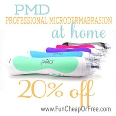 PMD Discount - Professional microdermabrasion at home! From FunCheapOrFree.com