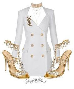 Designer Clothes, Shoes & Bags for Women Kpop Fashion Outfits, Stage Outfits, Look Fashion, Girl Fashion, Fashion Design, Classy Outfits, Stylish Outfits, Vetement Fashion, Looks Chic