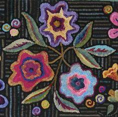 Gene's Rug Hooking Blog » Blog Archive » A Little Winter Color