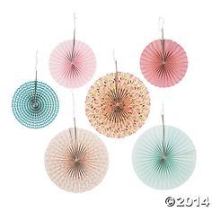 Vintage Collection Hanging Fans - 6 Pcs. for $10.50 from Oriental Trading CO.