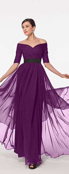 Modest maid of honor dresses long magenta maid of honor dress off the shoulder bridesmaid dresses
