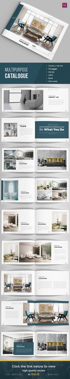 Buy Minimal Indesign Catalogue by Minionslover on GraphicRiver. Multipurpose Brochure / Catalogue Template This is 12 page minimal brochure / catalogs template is for designers work. Brochure Inspiration, Layout Inspiration, Graphic Design Inspiration, Pub Design, Layout Design, Catalogue Layout, Product Catalogue, Booklet Layout, Graphic Design Brochure
