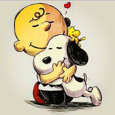 Woodstock, Snoopy & Charlie Brown  Pensando em você, querida! Orando para que Deus continue a levá-lo em tudo que faz ... ♡ te quiero! Saudades de você...