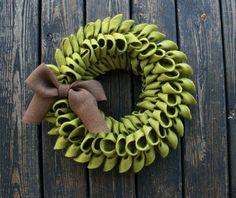 Fall Burlap Wreath.