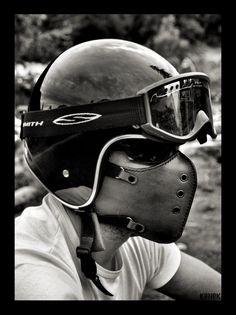 Máscara motocicleta clásico marrón/motocicleta / por BOKENMASK