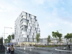 Propuesta Ganadora para Colegio y Residencia Estudiantil / Chartier Dalix Architectes