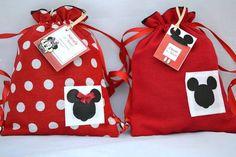 Saquinho Surpresa:  - Minnie e Mickey   Yuri-Luri 2   307E50 - Elo7
