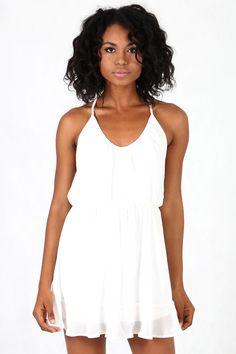 Vestido Curto Colcci Loose Costas Corrente Branco - BabadoTop