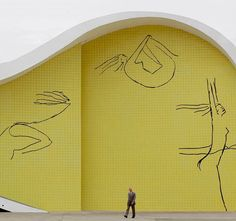 Centro Cultural Oscar Niemeyer I'll tattoo one of his sketches one day!