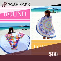 Judith March high quality round towels SALE $128 Gorgeous USA made tassel detail super big round beach towels.. Judith March Other