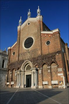 Basilica di San Giovanni e Paolo (1430) is one of the largest churches in the city - A huge brick edifice built in the Italian Gothic style - Venezia - Veneto - Italy