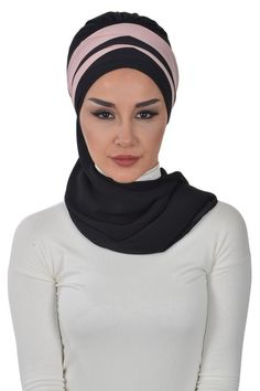Product Information : Double Color Ready To Wear Hijab Fabric : Chiffon Size : Standard Modest Fashion Hijab, Abaya Fashion, Instant Hijab, Bridal Hijab, Two Faces, Chiffon Scarf, Head Wraps, Ready To Wear, Women Wear