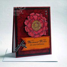 Beautiful Flower Happy Birthday Greeting Card Handmade by JanTink, $5.95